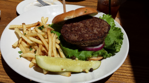 Karl Strauss Cheddar Burger Without Cheese (7-16-2014)