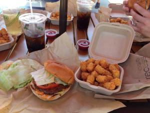 Recess Food Truck Burger and Tots