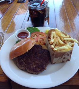 Pacific Coast Grill PCG Burger (7-13-2015)