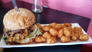 Baos Chopped Bacon Cheddar Burger and Tots (10-27-2015)