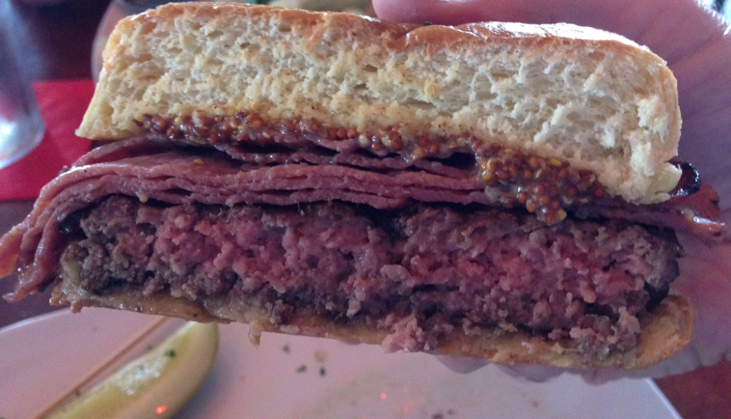 Nicky Rottens Tons of Fun Pastrami Burger Bottom Bun (1-6-2016)