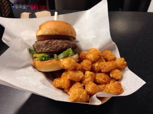 Stuffed Pow Burger With Tater Tots (4-6-2016)