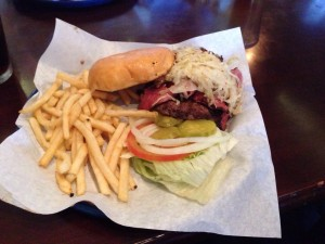 Bruski Burgers and Brew Pastrami Burger (5-4-2016)